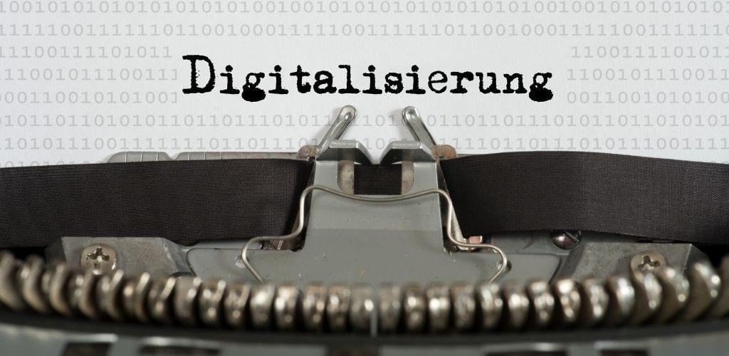 interne Kommunikation Digitalisierung Schreibmaschine