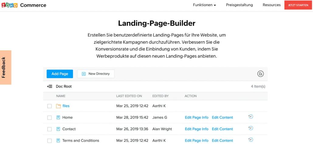 Der Zoho Landing-Page-Builder ist perfekt, um für Ihr Webinar zu werben.
